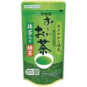 【送料無料】(業務用90セット)伊藤園 おーいお茶 抹茶入り緑茶 100g/袋 〔×90セット〕【代引不可】