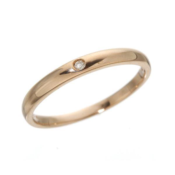 K18 ワンスターダイヤリング 指輪  K18ピンクゴールド(PG)9号【代引不可】【北海道・沖縄・離島配送不可】