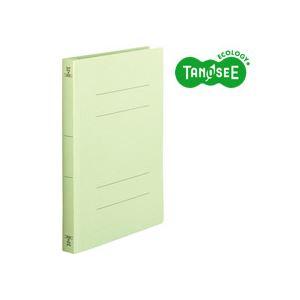 (まとめ)TANOSEE フラットファイル バインダー 2穴 <厚とじW>A4タテ 250枚収容 緑 10冊入×20パック【代引不可】【北海道・沖縄・離島配送不可】