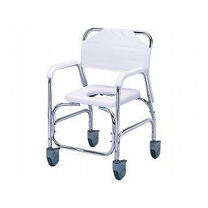 【送料無料】日進医療器 アルミシャワーチェア/ TY535DXE 樹脂製四輪ダブルストッパー【代引不可】