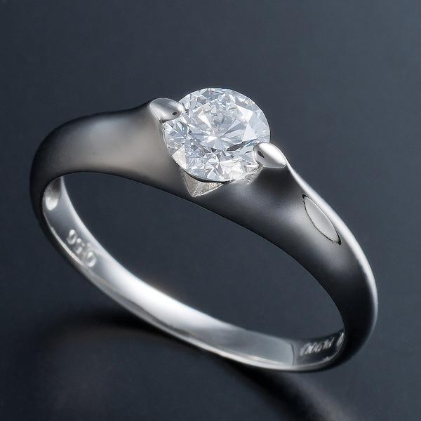 【送料無料】プラチナPt900 0.5ct Dカラー・IFクラス・EXカットダイヤリング 指輪(GIA鑑定書付き) 21号【代引不可】