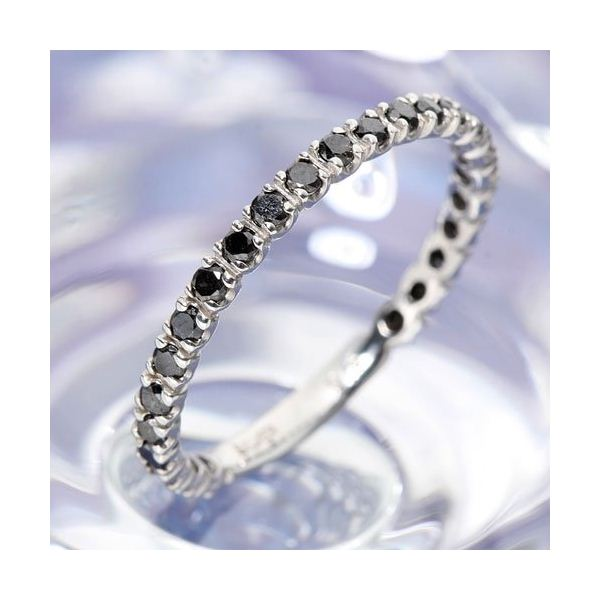 0.5ctブラックダイヤリング 指輪 エタニティリング 13号【代引不可】【北海道・沖縄・離島配送不可】
