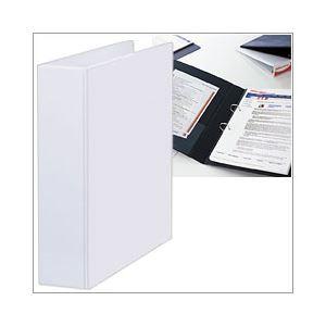 【送料無料】リングバインダー(A4タテ・2穴) 背幅7.8cm 白 1箱(24冊) DPVF-2-72W-ハコ【代引不可】