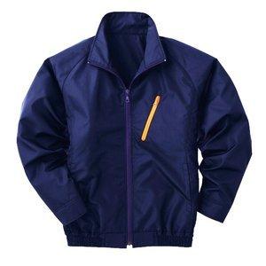 空調服 ポリエステル製長袖ブルゾン P-500BN 〔カラー:ネイビー  サイズ L〕 電池ボックスセット【代引不可】