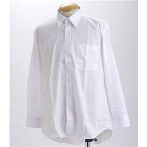 ブラック & ホワイト ワイシャツ2枚セット 長袖 LL 〔 2点お得セット 〕【】【北海道・沖縄・離島配送不可】:フジックス