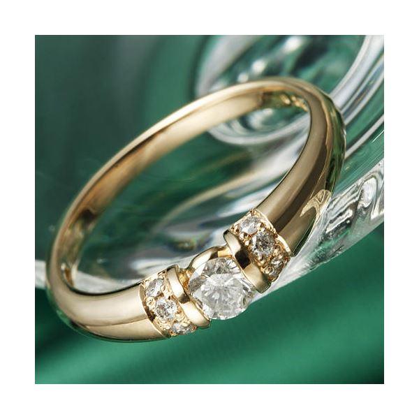 K18PG/0.28ctダイヤリング 指輪 17号【代引不可】【北海道・沖縄・離島配送不可】