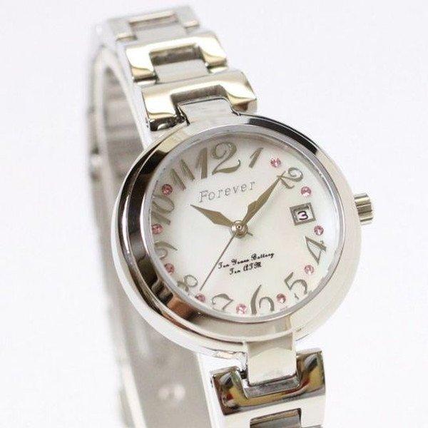 cc60b0b8b8 ... Forever(フォーエバー)腕時計デイト付きFL-1201-6ホワイトシェル【】 ...