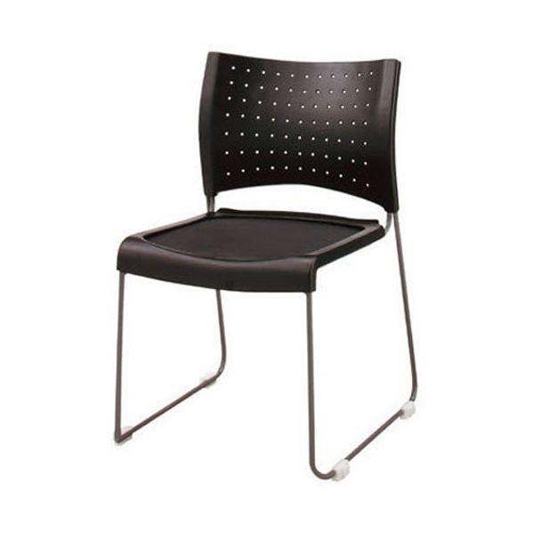 【送料無料】ジョインテックス 会議椅子(スタッキングチェア/ミーティングチェア) 肘なし FM-1 〔完成品〕【代引不可】