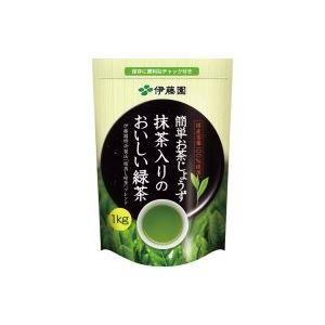 ×8セット【代引不可】 14526 抹茶入りのおいしい緑茶 1kg 【送料無料】(業務用8セット)伊藤園
