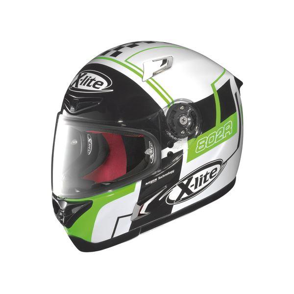 【送料無料】〔DAYTONA/デイトナ〕フルフェイス ヘルメット X-LITE X802R ラッシュ WH M【代引不可】