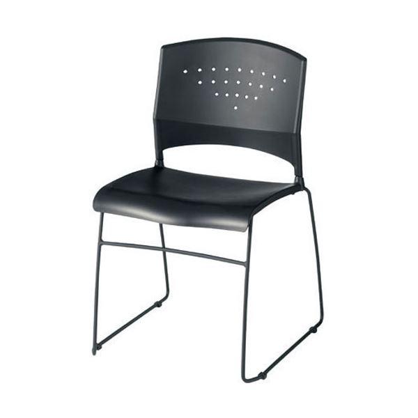 ジョインテックス 会議椅子(スタッキングチェア/ミーティングチェア) 肘なし GK-N10 〔完成品〕【代引不可】【北海道・沖縄・離島配送不可】