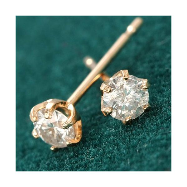 K18 PG0.2ct ダイヤモンドピアス【代引不可】【北海道・沖縄・離島配送不可】