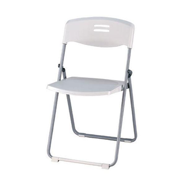 【送料無料】CMC 折りたたみ椅子/会議椅子 〔ホワイトグレー〕 FC-802【代引不可】