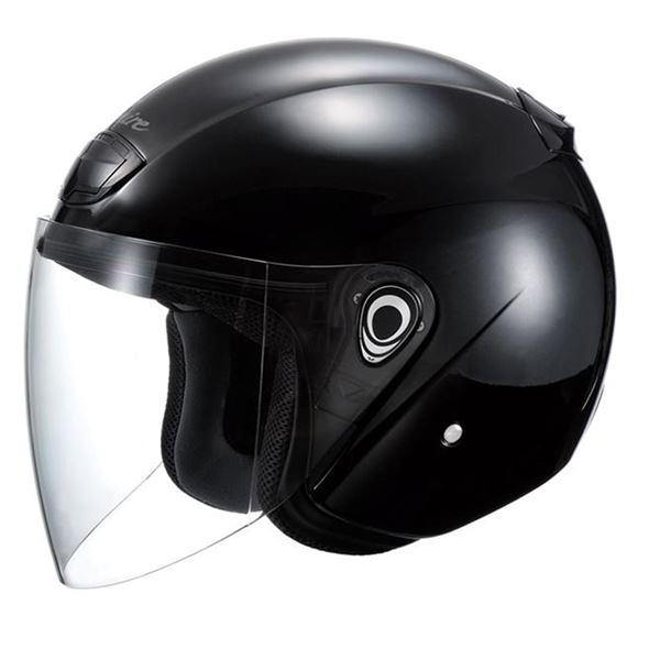 【送料無料】VENIRE ジェットヘルメット シールド付き フラットブラック 〔バイク用品〕【代引不可】