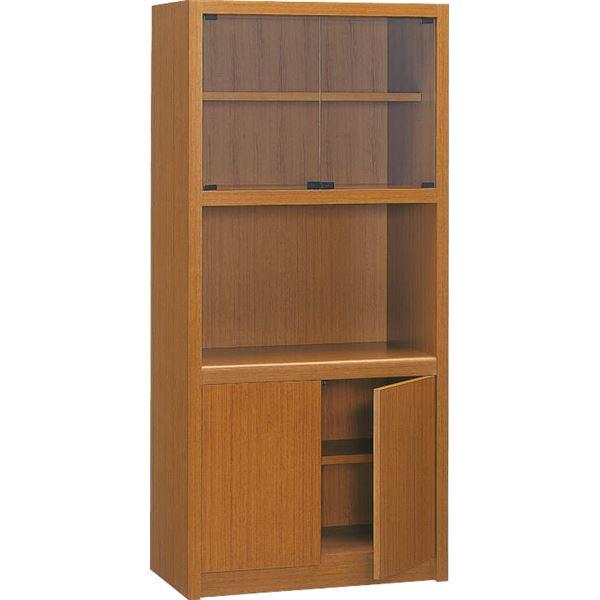 【送料無料】プレジデント用書棚 PK-818B 〔社長室、役員用家具〕【代引不可】