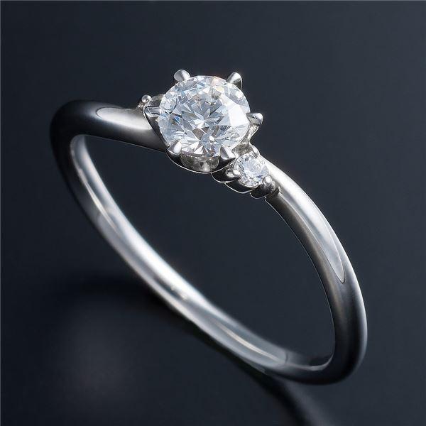 【送料無料】Dカラー・VVS2・EX Pt0.3ct ダイヤリング 両側ダイヤモンド(鑑定書付き) 11号【代引不可】