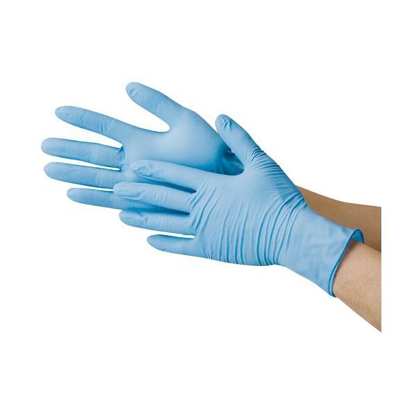 川西工業 ニトリル極薄手袋 粉なし ブルーS【代引不可】