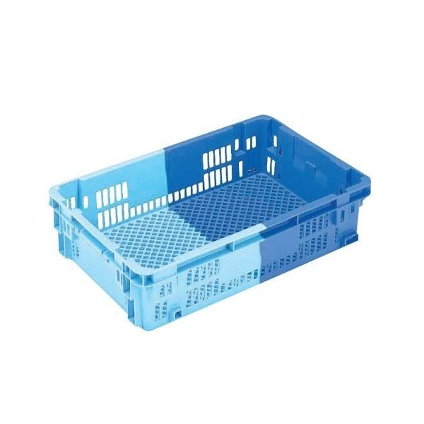 〔5個セット〕 業務用コンテナボックス/食品用コンテナー 〔NF-M33〕 ダークブルー/ブルー 材質:PP【代引不可】