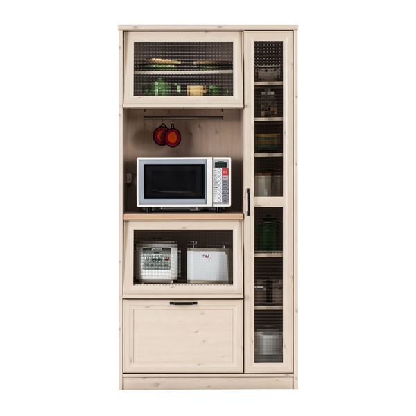 【送料無料】ユーアイ NEO MARCH(マーチ) 食器棚90 天板天然パイン材 K-900HOP【代引不可】