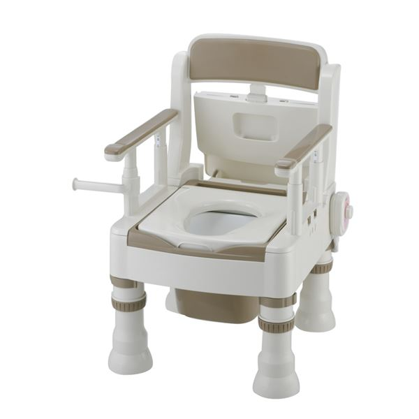 【送料無料】リッチェル 樹脂製ポータブルトイレ ポータブルトイレきらくミニでか(5)MH型アイボリー 45621【代引不可】