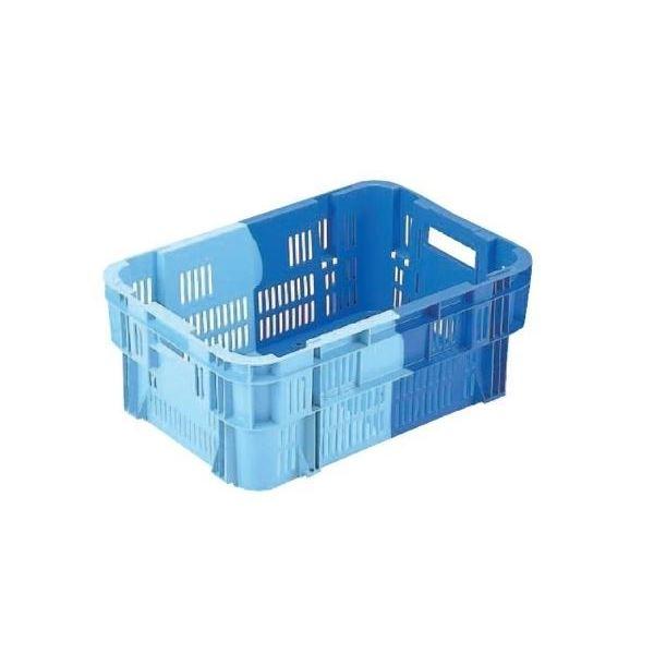 〔5個セット〕 業務用コンテナボックス/食品用コンテナー 〔NF-M215B〕 ダークブルー/ブルー 材質:PP【代引不可】