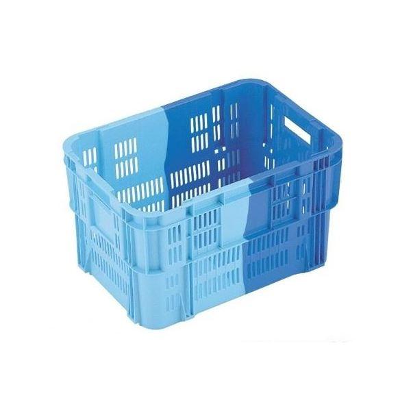 〔5個セット〕 業務用コンテナボックス/食品用コンテナー 〔NF-M20B〕 ダークブルー/ブルー 材質:PP【代引不可】