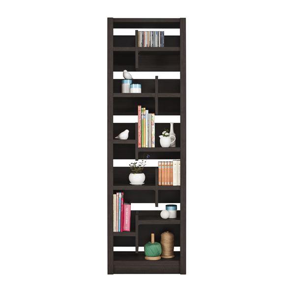 【送料無料】ユーアイ NEO RAIDER(レイダー) 書棚60 飾り棚 ダークブラウン L-600H DBR【代引不可】