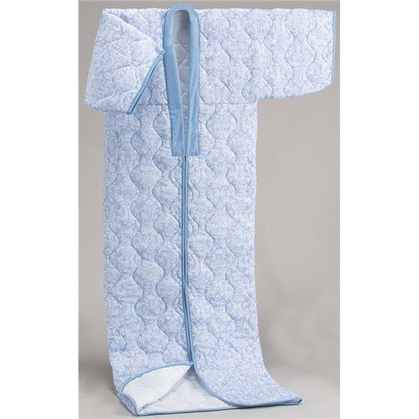 【送料無料】〔日本製〕国産かいまきふとんブルー系 シングル 綿100%ガーゼ【代引不可】