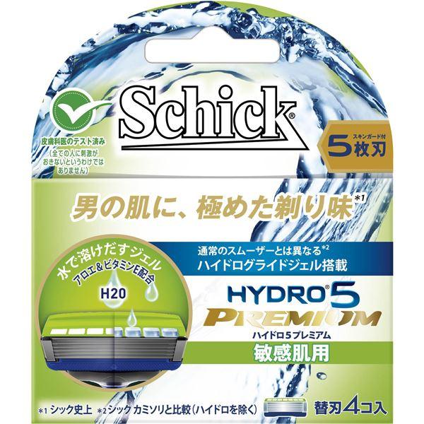 【送料無料】シック(Schick) ハイドロ5プレミアム 替刃 敏感肌用(4コ入) × 12 点セット 【代引不可】