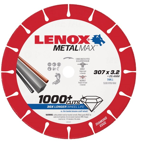 【期間限定】 LENOX(レノックス) 1985497 メタルマックス 305X25.4X3.2 1985497【代引不可】, ボールドリック:09cb6470 --- supercanaltv.zonalivresh.dominiotemporario.com