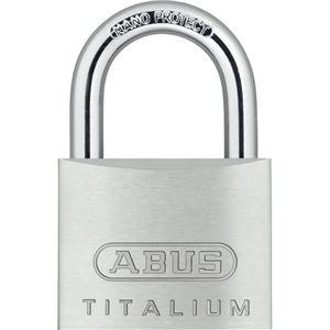 (まとめ) アバス 南京錠 タイタリウム 64TI 50mm 64TI/50KD 1個 〔×4セット〕【代引不可】