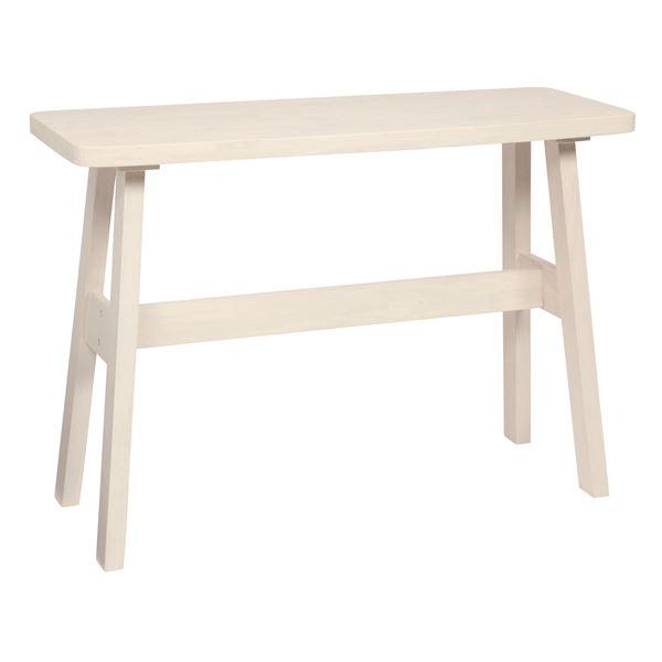 【送料無料】カウンターテーブル/ハイテーブル 〔長方形 幅120cm〕 ホワイト 『ベルク』 木製 高さ85cm ブラッシング加工【代引不可】