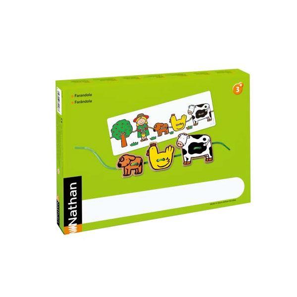 DLM 木製ひもとおし 見本カード付き 375128【代引不可】