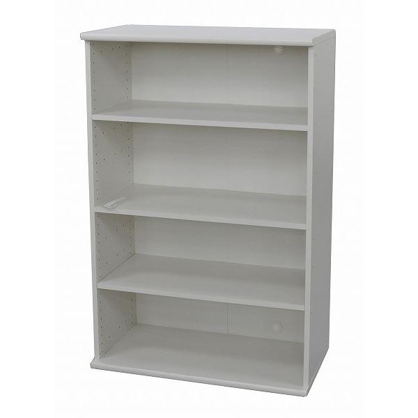 カラーボックス(収納棚/カスタマイズ家具) 4段 〔幅78.9cm×高さ120.3cm〕 エイ・アイ・エス 『エシカ』 1280 ホワイト【代引不可】