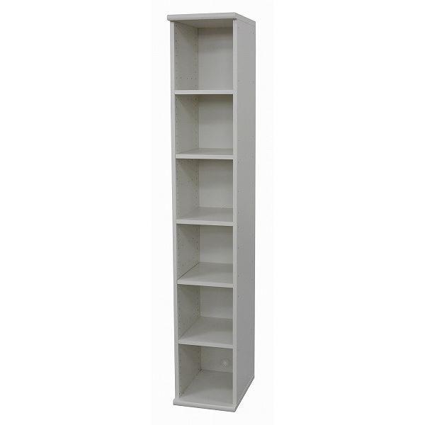 【送料無料】ハイタイプカラーボックス(収納棚/カスタマイズ家具) 6段 〔幅30cm×高さ177.9cm〕 エイ・アイ・エス 『エシカ』 1830 ホワイト【代引不可】