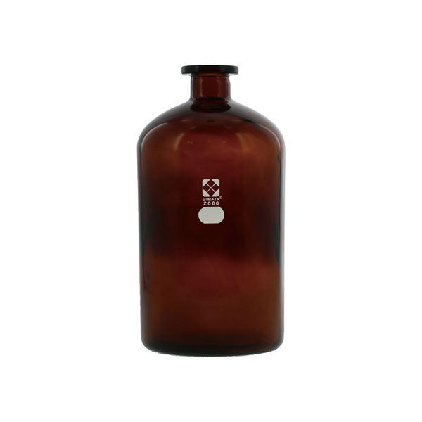 【送料無料】〔柴田科学〕びん 茶褐色 自動ビュレット用 2L【代引不可】