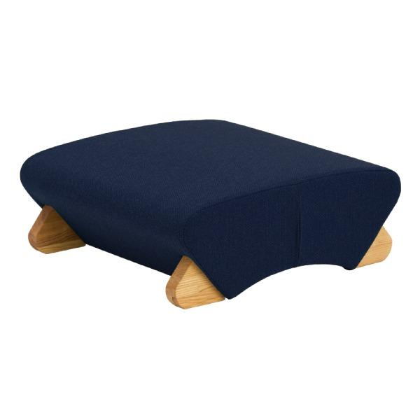 デザイン座椅子 脚:クリア/布:ネイビー 〔Mona.Dee モナディー〕WAS-F【代引不可】