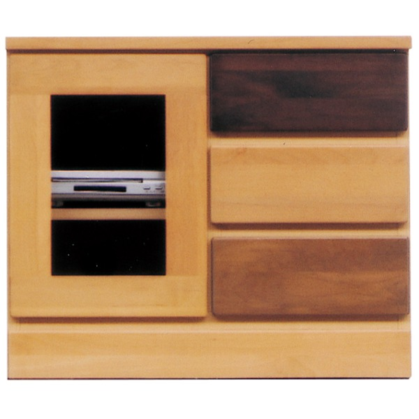 【送料無料】3段ローボード/テレビ台 〔Bタイプ/幅60cm:20型~26型対応〕 木製/天然木 『LOVE』 日本製 ナチュラル 〔完成品〕【代引不可】