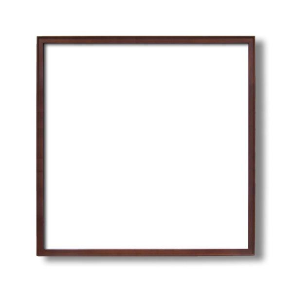 【送料無料】〔角額〕高級木製正方形額・壁掛けひも・アクリル付き ■9787 600角(600×600mm)「ブラウン」 【代引不可】