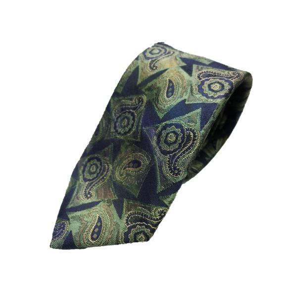 希少生地使用 グランネクタイ Clarkプレミアム 手縫い仕立て 西陣ネクタイ ほぐし染めブルー【代引不可】