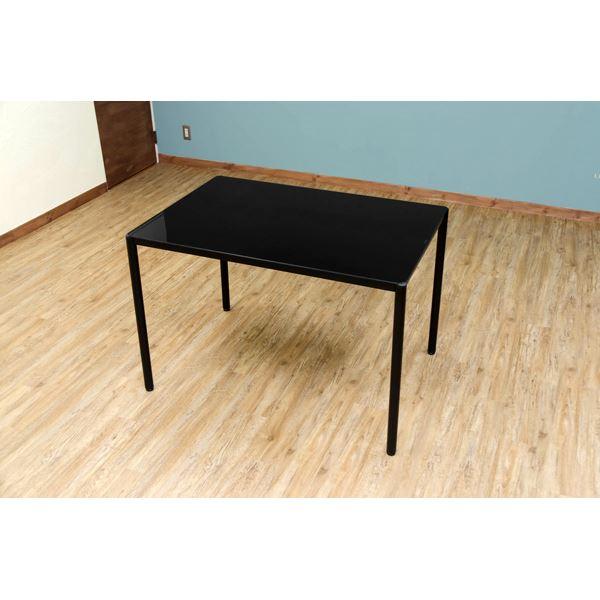 【送料無料】ダイニングテーブル 〔5点セット〕 ブラック 『NORN』 強化ガラス天板テーブル×1・ダイニングチェア×4【代引不可】
