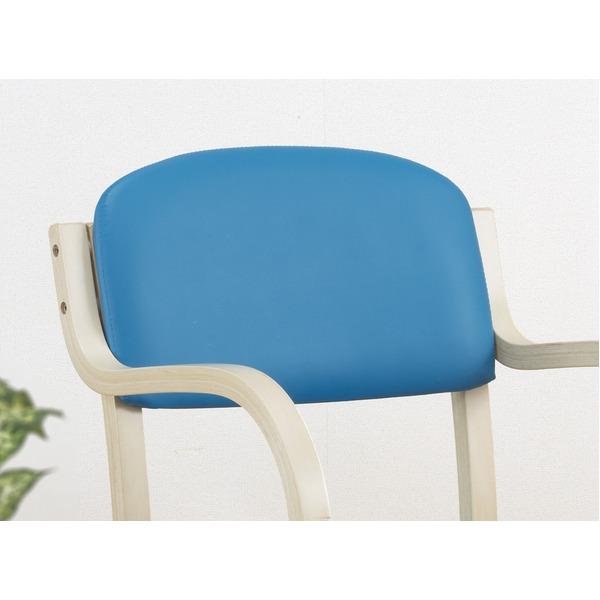 【送料無料】スタッキングチェア/立ち座りサポートチェア <H・W> キズ防止用パーツ付き ブルー【代引不可】