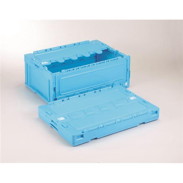 フタ付き折りたたみコンテナ/オリコン 〔55L/ブルー〕 CF-S56NR 岐阜プラスチック工業【代引不可】