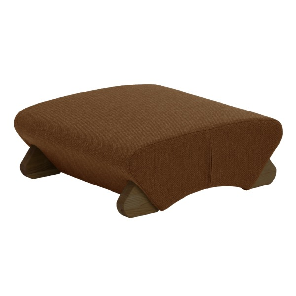 デザイン座椅子 脚:ダーク/布:ブラウン 〔Mona.Dee モナディー〕WAS-F【代引不可】