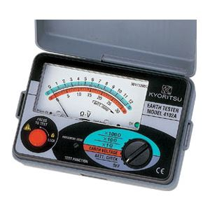 共立電気計器 アナログ接地抵抗計(ハードケース付) 4102A-H【代引不可】【北海道・沖縄・離島配送不可】