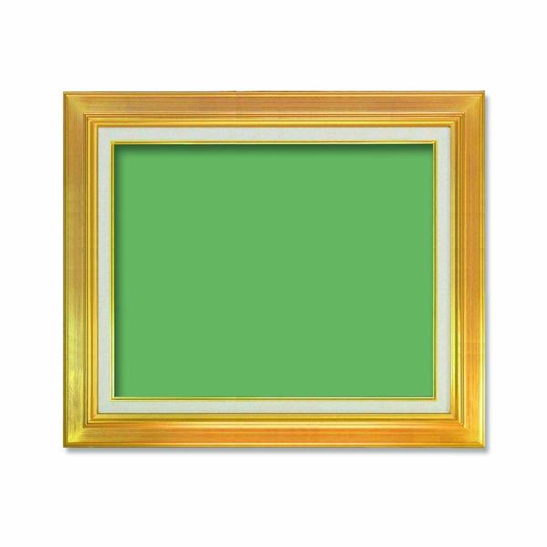 〔油額〕油絵額・キャンバス額・金の油絵額・銀の油絵額 ■7711 F8号(455×380mm)「ゴールド」 【代引不可】【北海道・沖縄・離島配送不可】