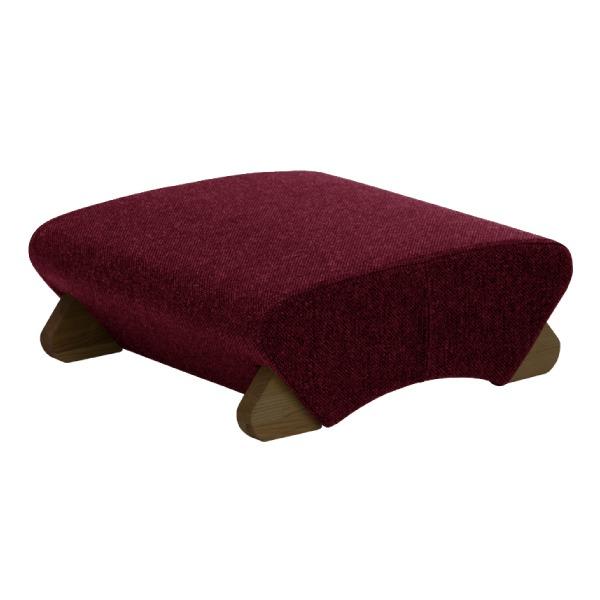 【送料無料】デザイン座椅子 脚:ダーク/布:ワインレッド 〔Mona.Dee モナディー〕WAS-F【代引不可】