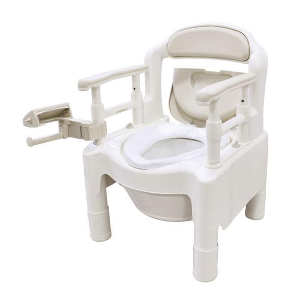 【送料無料】アロン化成 樹脂製ポータブルトイレ 安寿ポータブルトイレ FX-CP ベージュ 533-550【代引不可】