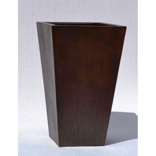 【送料無料】木目調樹脂製鉢カバー MOKU スクエアー 33cm【代引不可】