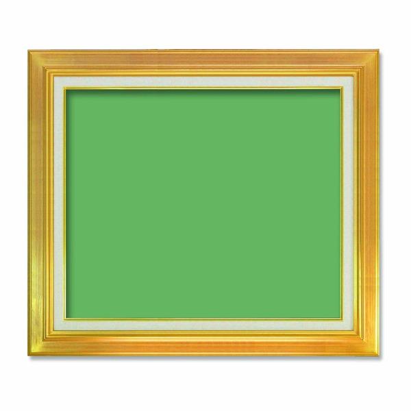 【送料無料】〔油額〕油絵額・キャンバス額・金の油絵額・銀の油絵額 ■7711 F12号(606×500mm)「ゴールド」 【代引不可】